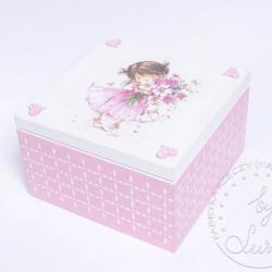 dziewczynka z kwiatami pudełko dla małej księżniczki