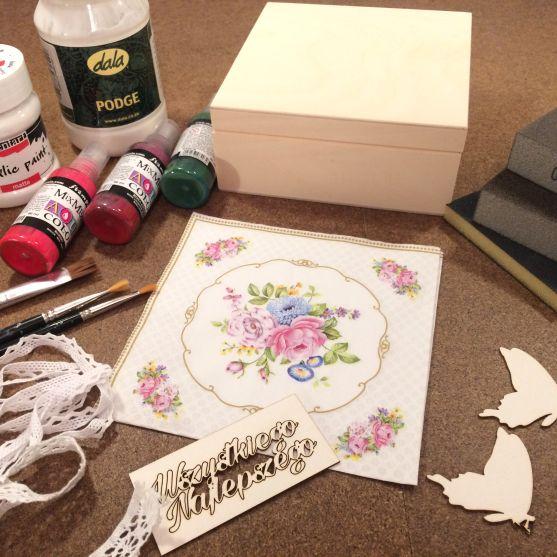 Zestaw do wykonania białego pudełka urodzinowego